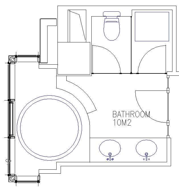 Guestroom Bathroom Sample Plan 4