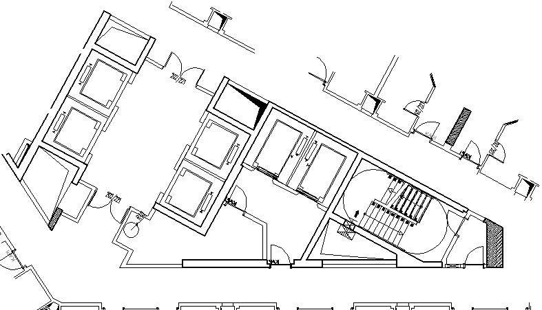 Hotel design guestroom sample elvator foyer plan 2 for Elevator plan drawing