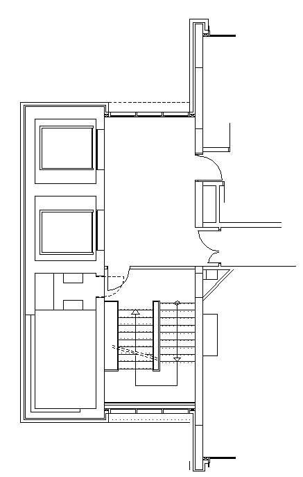 Hotel design guestroom sample elvator foyer plan 3 for Elevator plan drawing