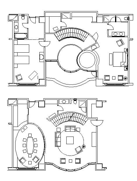 Hotel Design Guestroom Sample Plan 4