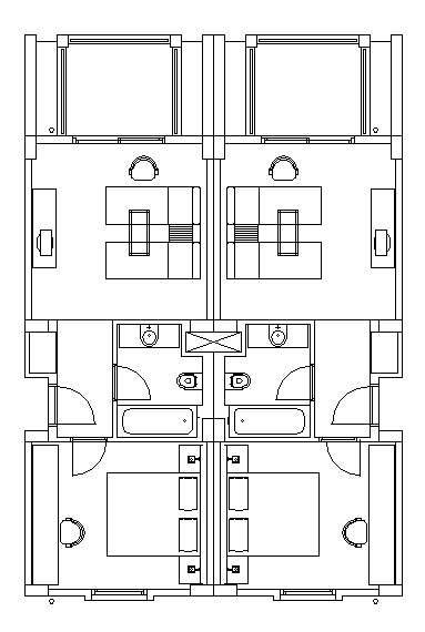 hotel design guestroom sample plan 8