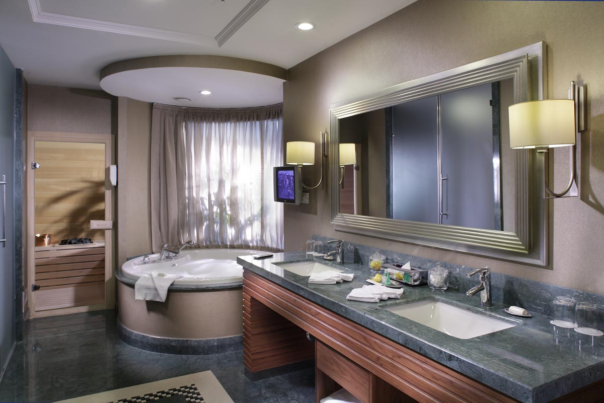Hotel design guestroom planning interiors bathrooms for 5 star bathroom designs
